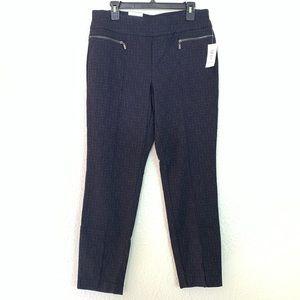 Style $ Co Blue Black Skinny Pants Size L